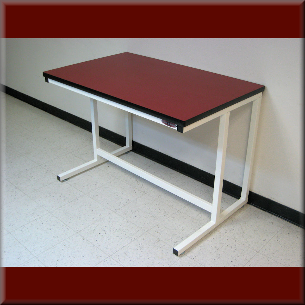Table Model C-109P – C-Frame Style Workbench w/ Recessed Front Legs