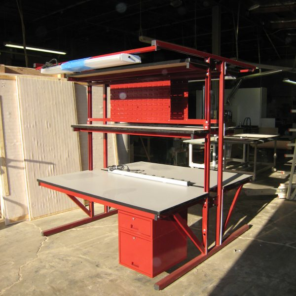 Double-Sided Workbench T-101P-OLD-BURGSUN