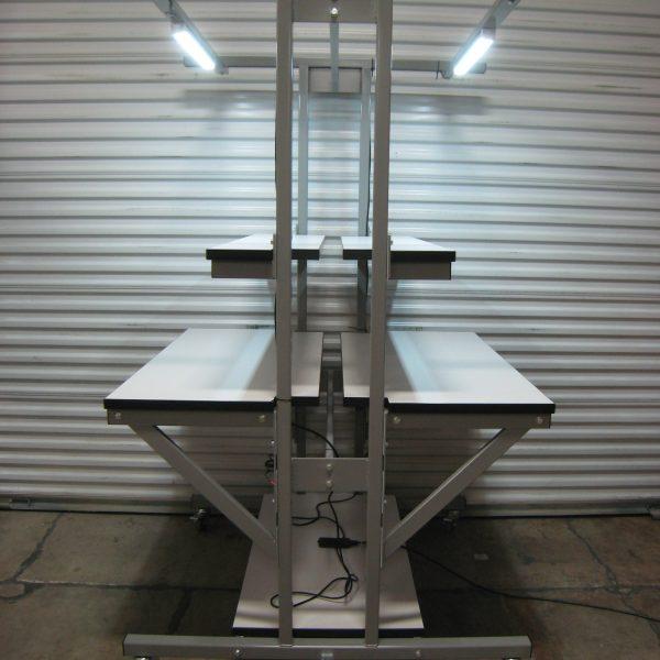 Double-Sided Workbench T-101P-CSTR-LWRHLF-GREY01