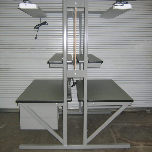 Double-Sided Workbench T-101P-OLD-DWRUU-GREY01