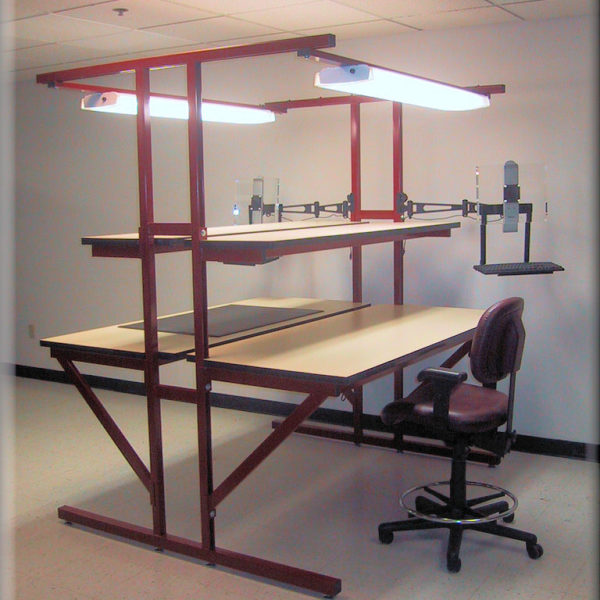 Double-Sided Workbench T-101P-OLD-BURG-01
