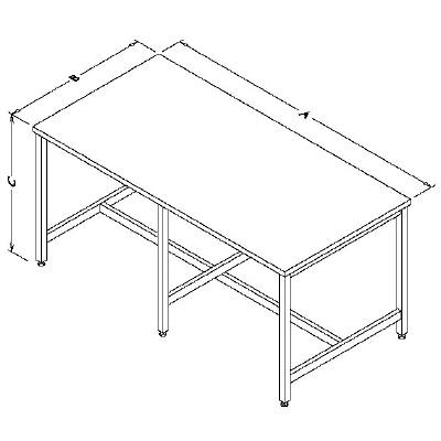 Table Model <span style='color: #800000;'><strong>A-109P-CLG</strong></span> – Workbench with Center Legs