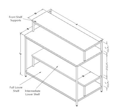 Table Model <span style='color: #800000;'><strong>F-103P-PR</strong></span> – Printer Stand Workbench