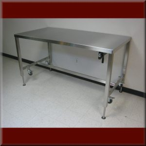 Adjustable Height Stainless Steel Tables