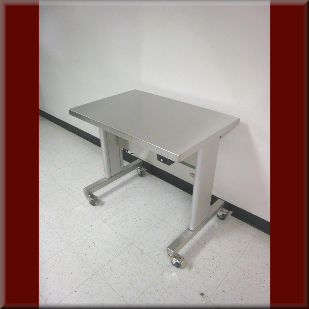 Table Model <span style='color: #800000;'><strong>i-107P-SS</strong></span> – Stainless Steel Adjustable Height Table
