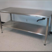 Stainless Steel Adjule Height Table Rdm Lift Tables This Unit Shown With Optional Part Time Casters