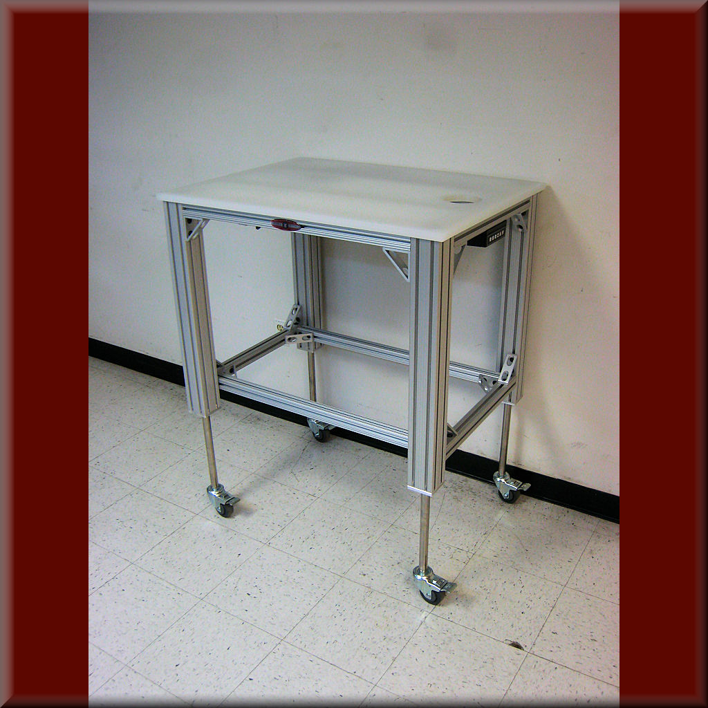 Table Model A-107P-AL-EXT-B – Aluminum Frame w/ Hydraulic Lift – 6″,8″,10″ & 12″ Lift Range – 1,000 lb cap.