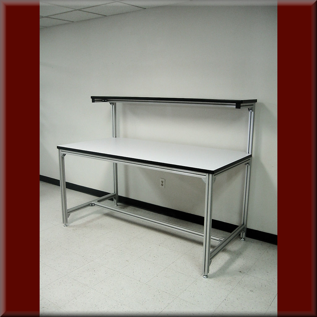 Table Model F-103P-AL-EXT – Aluminum Extrusion Frame Tech Bench