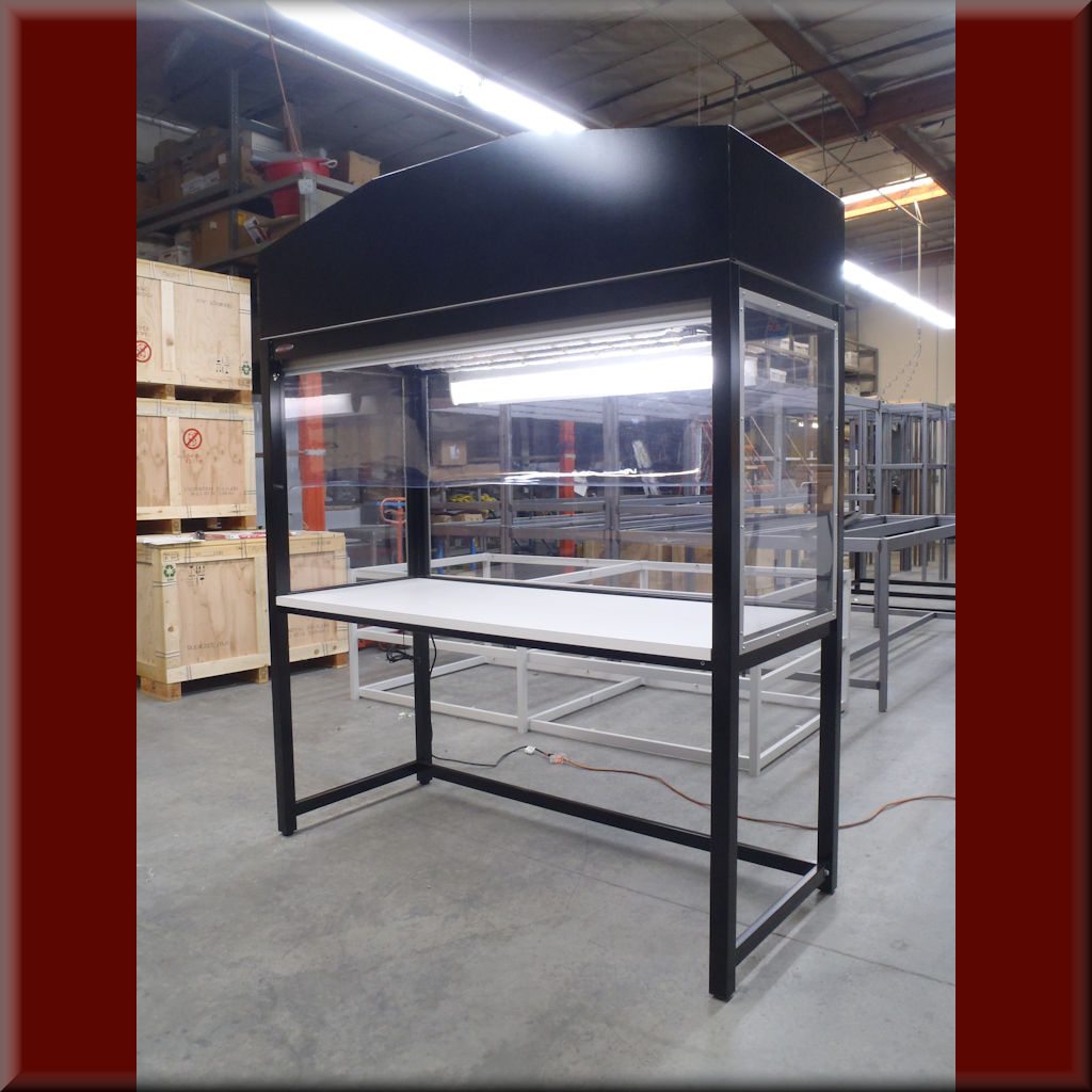 Table Model LF-102P – Vertical Laminar Flow HEPA Workstations