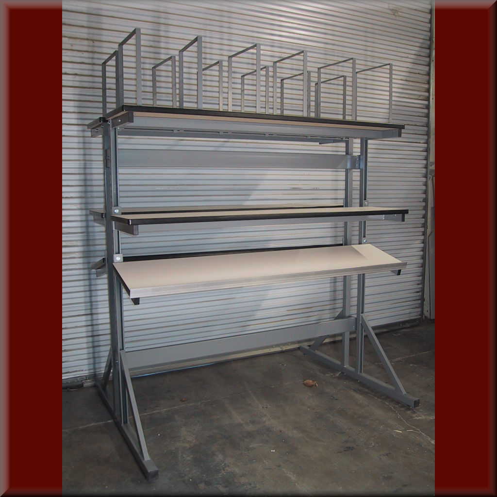 Table Model <span style='color: #800000;'><strong>P-101P</strong></span> – Double-Sided Pack Table (Great for Conveyors)