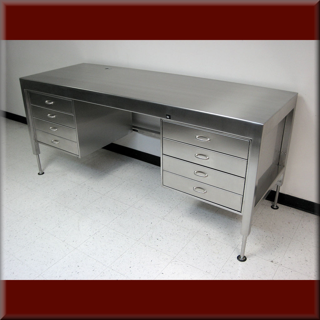 Table Model <span style='color: #800000;'><strong>A-107P-SS-EXEC</strong></span> – Executive Style Desk / Industrial-Duty