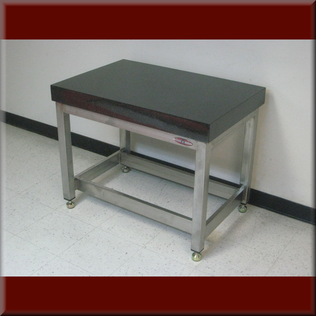 Table Model A-109P-VD-ST – Vibration Isolation Table – Vibration Damping Workbench w/ Heavy Stone Top