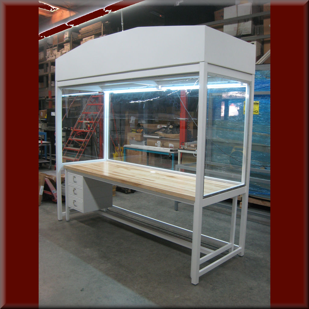 Table Model LF-102P-ISO – Vibration Isolation Vertical Laminar Flow HEPA Workstations