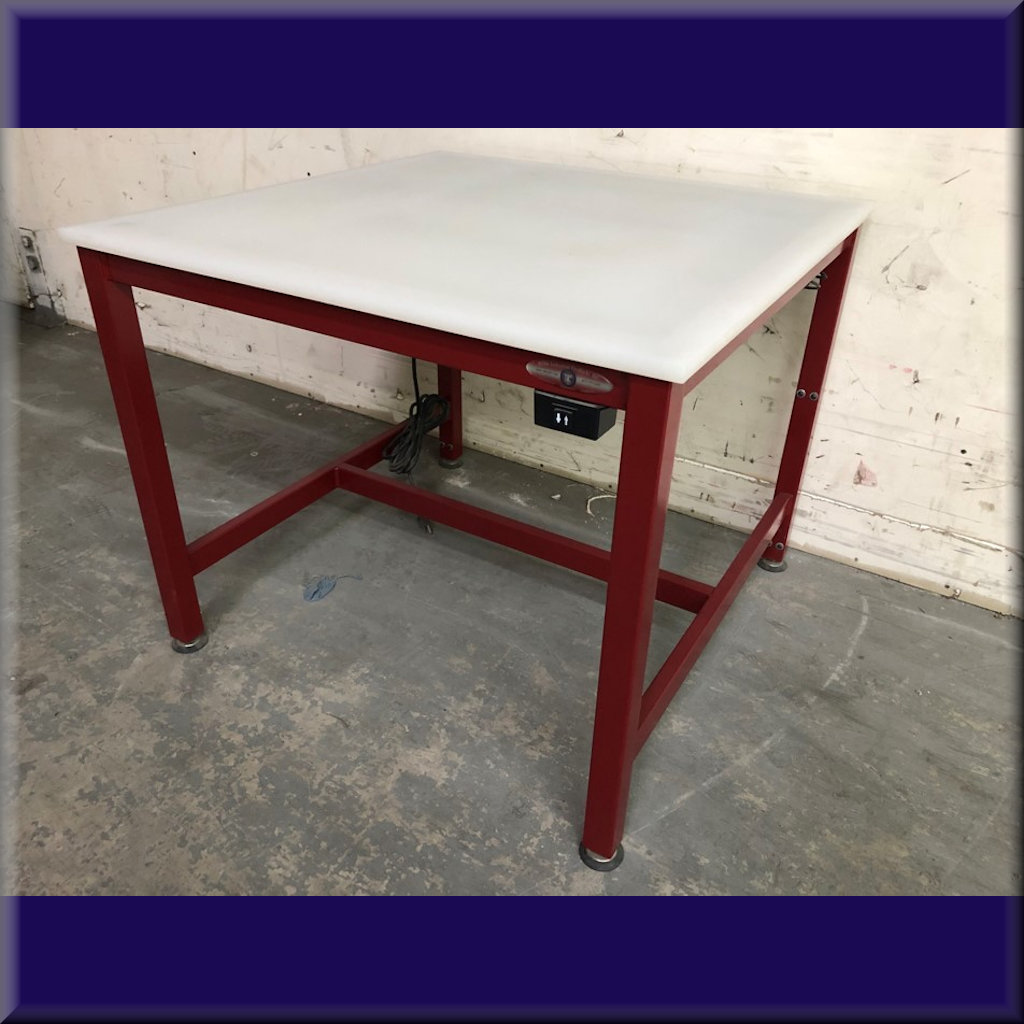 OVERSTOCK Table Model A-107P – Hydraulic Flat Top Lift Table – 36″ X 36″ X 30″ Start Height – Stock #S09