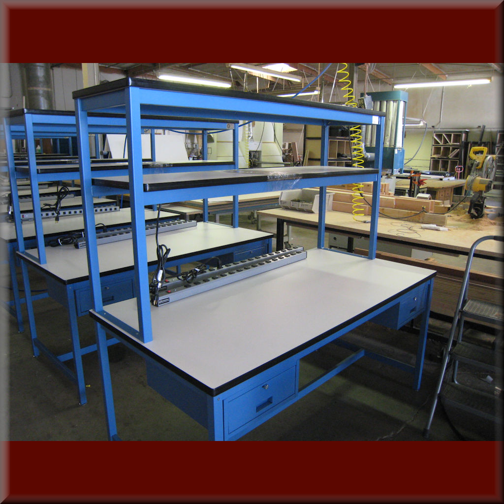 Table Model <span style='color: #800000;'><strong>RA-109P</strong></span> – RDM Standard Benchtop Riser (Add-On Upper Shelf)