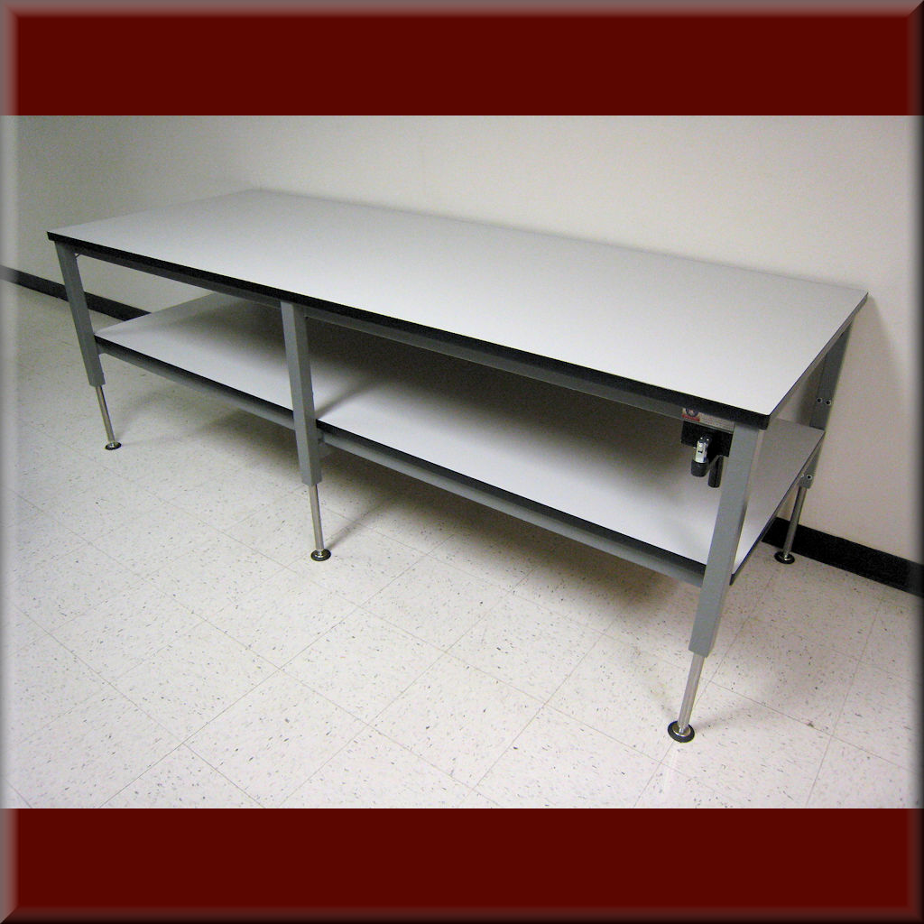 Table Model <span style='color: #800000;'><strong>A-107P-CLG</strong></span> – Hydraulic Flat Top Lift Table w/ Center Legs