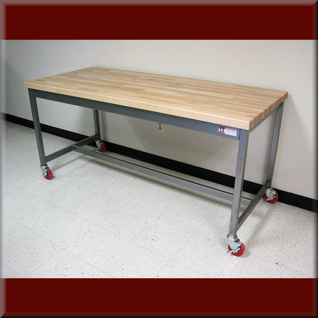 Table Model A-109P-CSTR – RDM Flat Top Table with Casters