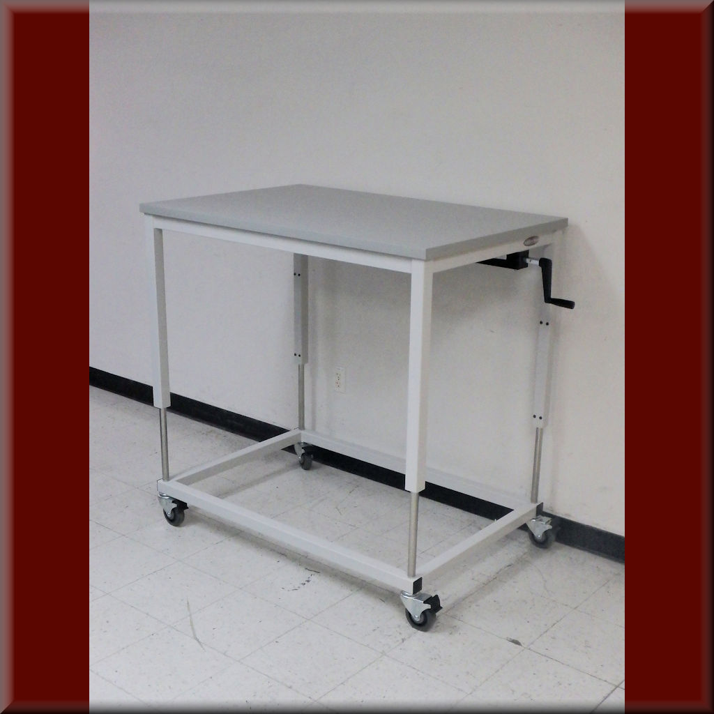 Table Model A-107P-FTCSTR – Hydraulic Flat Top Lift Table w/ Full-Time Casters