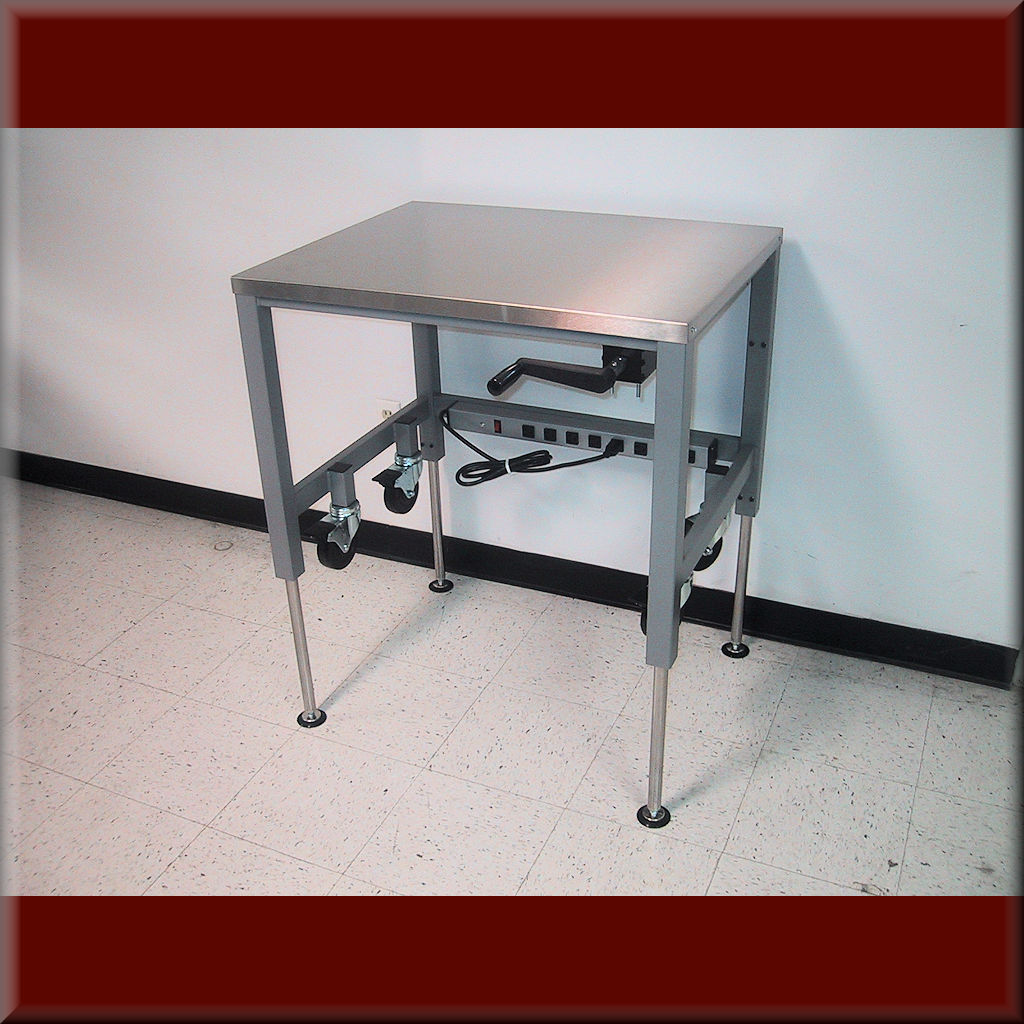 Table Model A-107P-PTCSTR – Hydraulic Flat Top Lift Table w/ Part-Time Casters