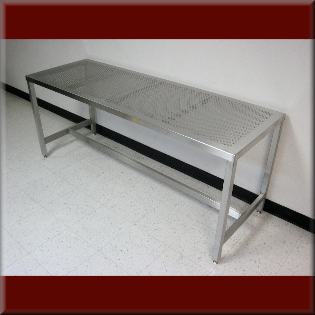 Table Model A-109P-SS-PERF – Stainless Steel Flat Top Table with Perforated Top
