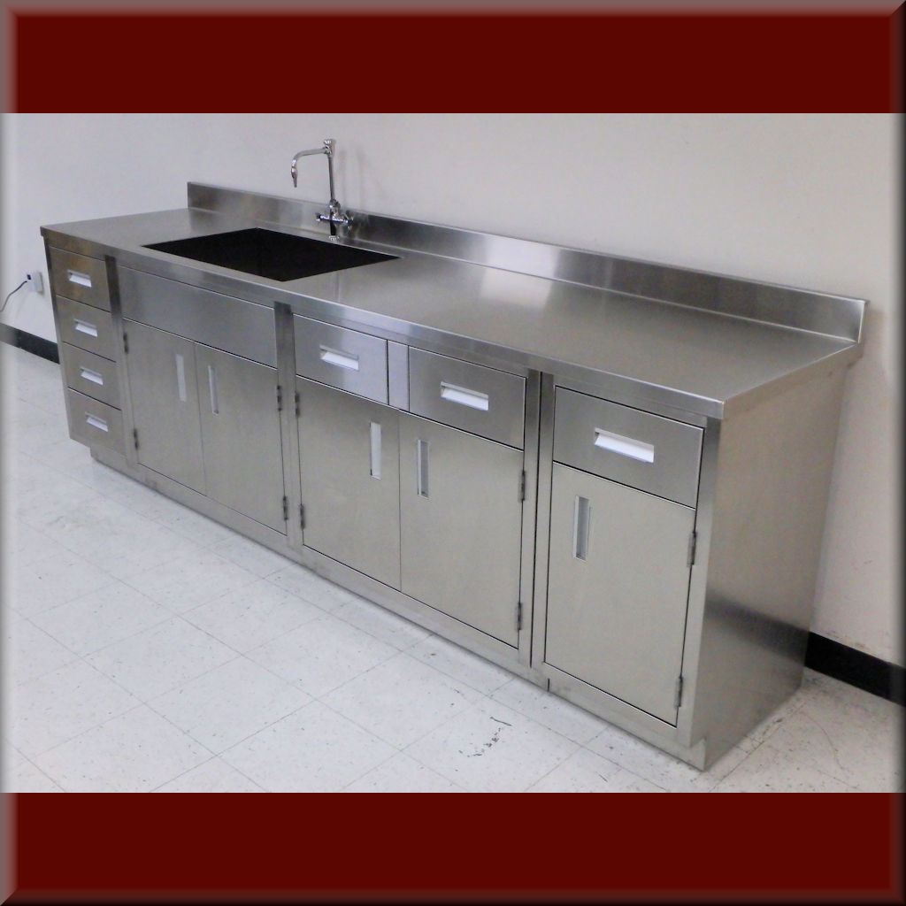 Stainless Steel Laboratory Cabinets / Laboratory Casework & Countertops