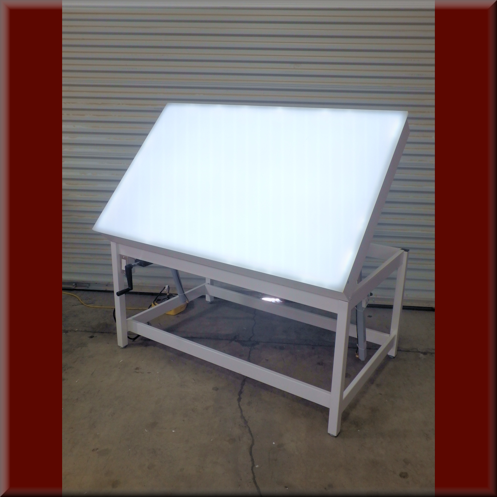 Table Model A-107P-LT-TILT – Adjustable Height Tilt Top Light Table