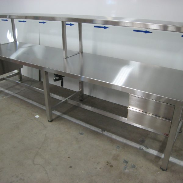 Stainless Steel Ergonomic Lift Table A-107P-SS-CLG