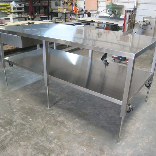 Stainless Steel Ergonomic Lift Table A-107P-SS-CLG-FLWR