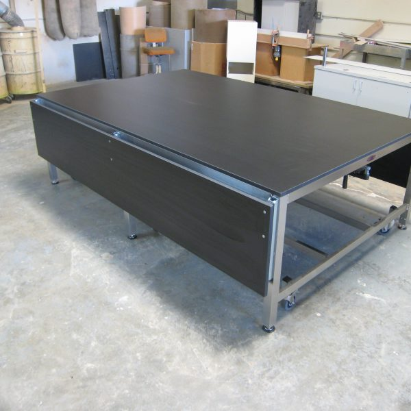 Stainless Steel Ergonomic Lift Table - Model A-107P-SS-CLG-DROP-TRESP